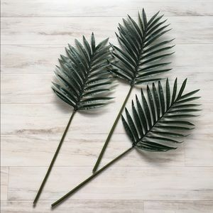 Three Decorative Tropical Artificial Leaves
